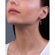 "Image of """"Dangle Arrow"" silver hoop earrings gold plated"""