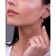 "Image of """"Dangle Cross"" silver hoop earrings gold plated"""