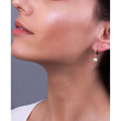 "Image of """"Dangle Pearl"" silver hoop earrings gold plated"""