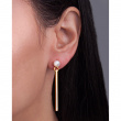 """Image of """"""""Perle Batonette"""" silver earrings gold plated"""""""