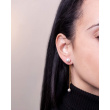 """Image of """"""""Extravagant"""" silver earjackets earrings rose gold plated"""""""