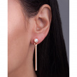 """Image of """"""""Perle Batonette"""" silver earrings rose gold plated"""""""